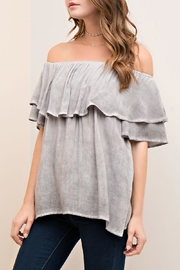 Entro Off-The-Shoulder Ruffle Top - Front full body