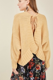 Entro Open-Back Mango Sweater - Product Mini Image