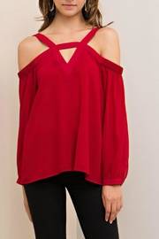 Entro Open Shoulder Top - Product Mini Image
