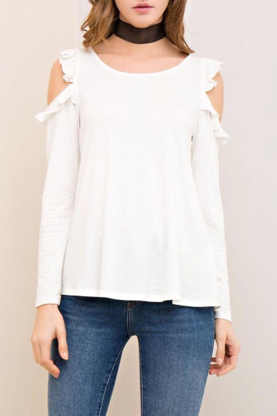 Entro open shoulder top from washington by lulu 39 s boutique for Boutique tops