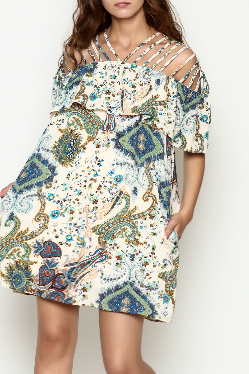 Entro Paisley Print Dress From Cincinnati By Trend