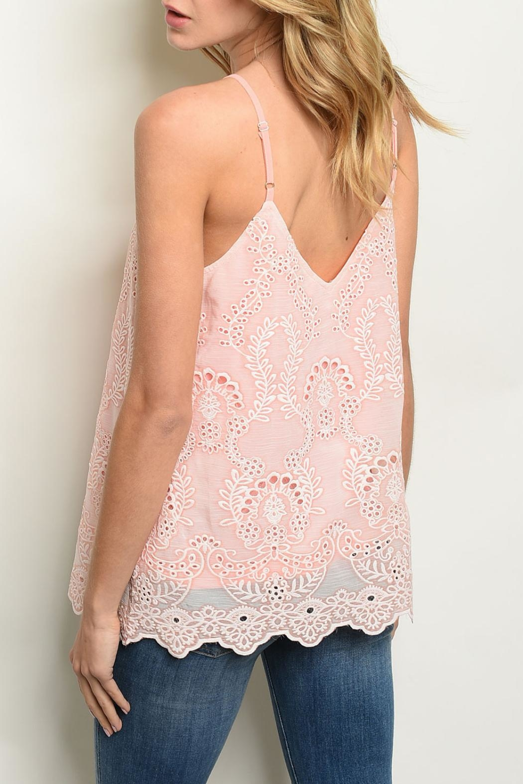 Entro Peach Crochet Top - Front Full Image