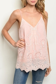Entro Peach Crochet Top - Front cropped