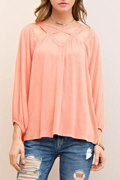 Shoptiques Product: Peach Cutout Top