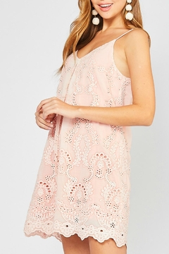 Entro Peach Eyelet Dress - Product List Image