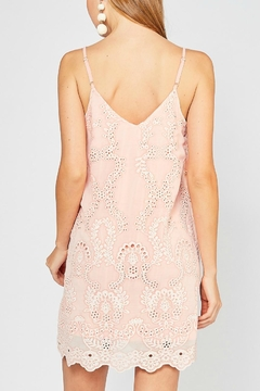 Entro Peach Eyelet Dress - Alternate List Image