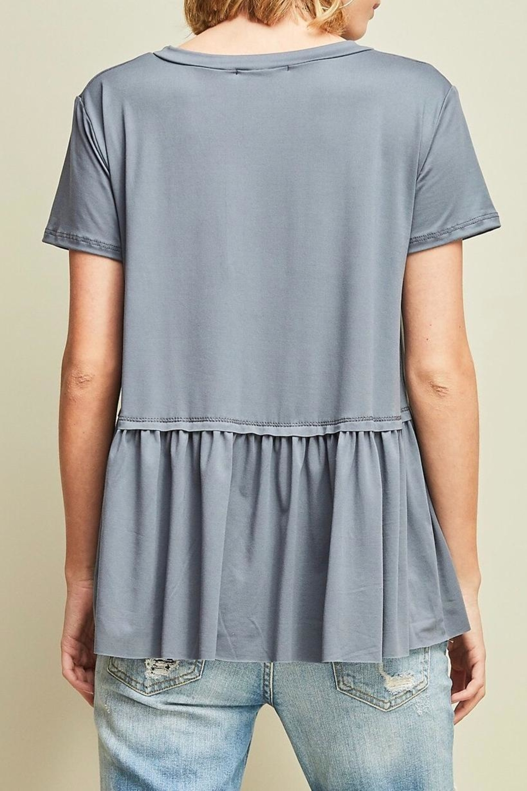 Entro Peplum Top - Side Cropped Image