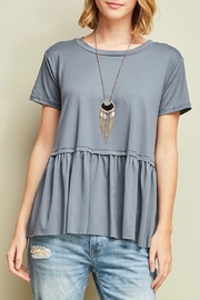 Entro Peplum Top - Product Mini Image