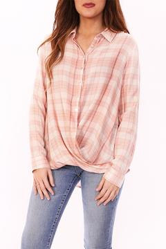 Shoptiques Product: Pink Striped Flannel