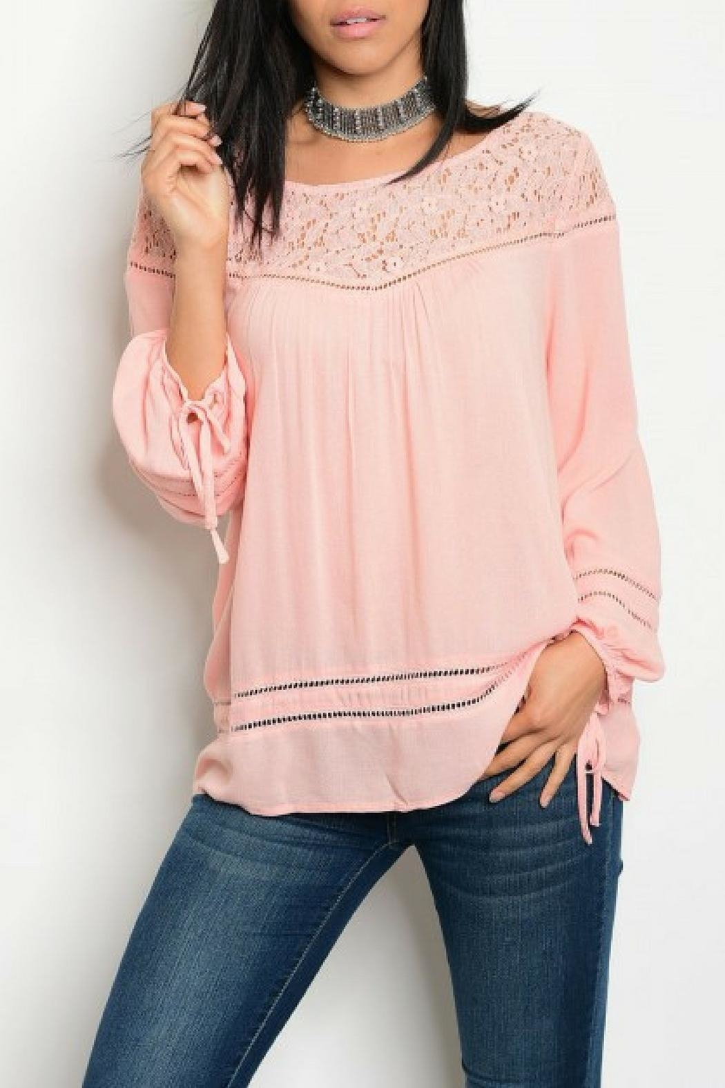 Entro Pink Tunic Blouse - Front Cropped Image