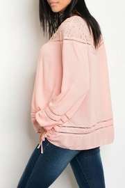 Entro Pink Tunic Blouse - Front full body