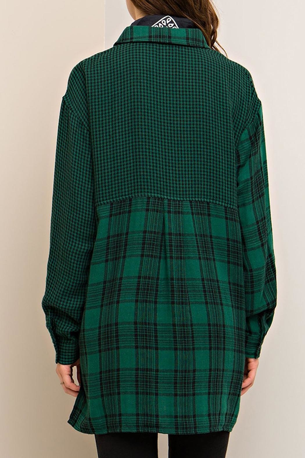 Entro Plaid Button Down - Back Cropped Image