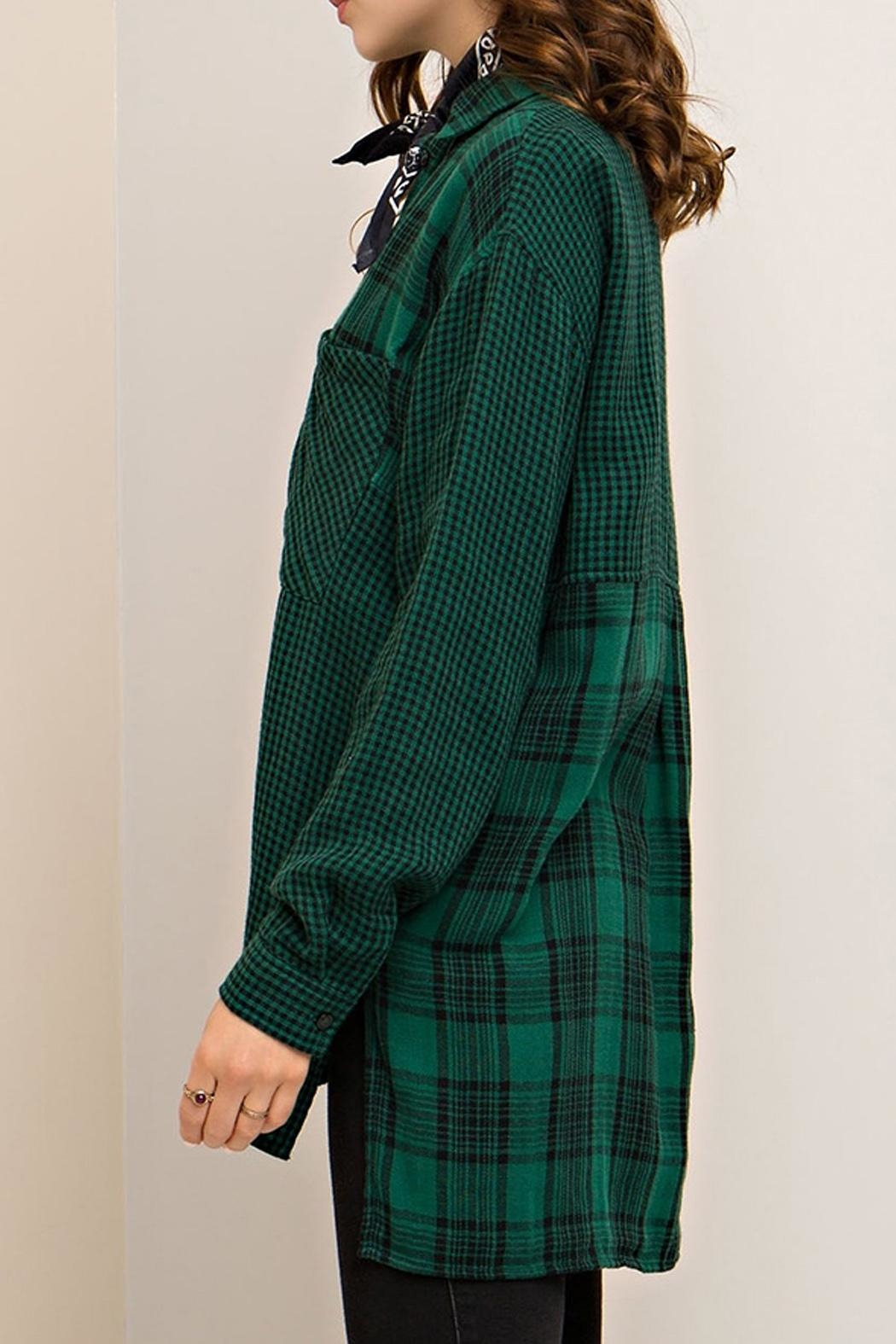 Entro Plaid Button Down - Side Cropped Image
