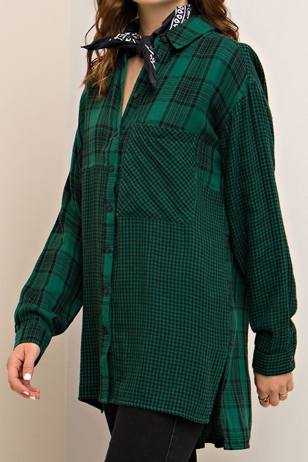 Entro Plaid Button Down - Front Full Image