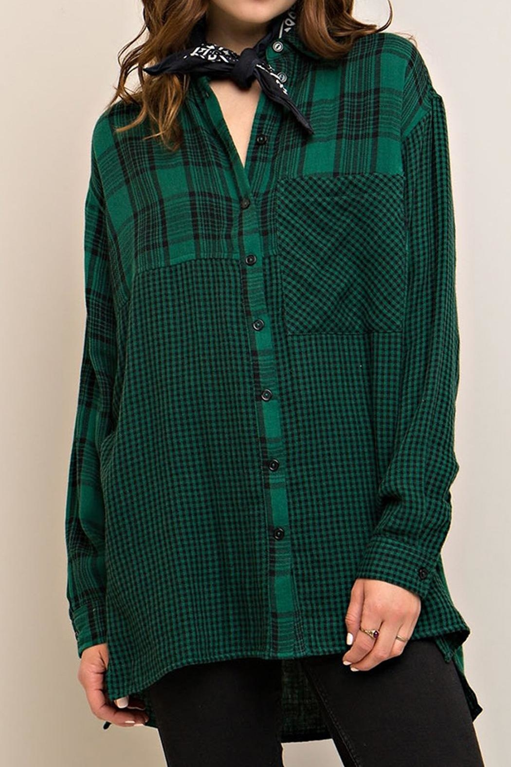 Entro Plaid Button Down - Main Image