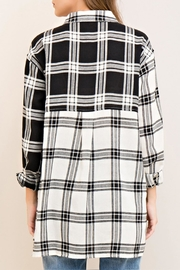 Entro Plaid Button Down Top - Other