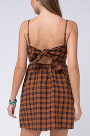 Entro Plaid Button-Up Dress - Side cropped