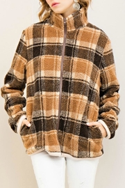 Entro Plaid Fleece Jacket - Front cropped