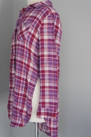 Entro Plaid Long Shirt - Front full body