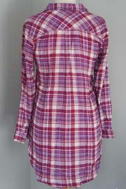 Entro Plaid Long Shirt - Side cropped