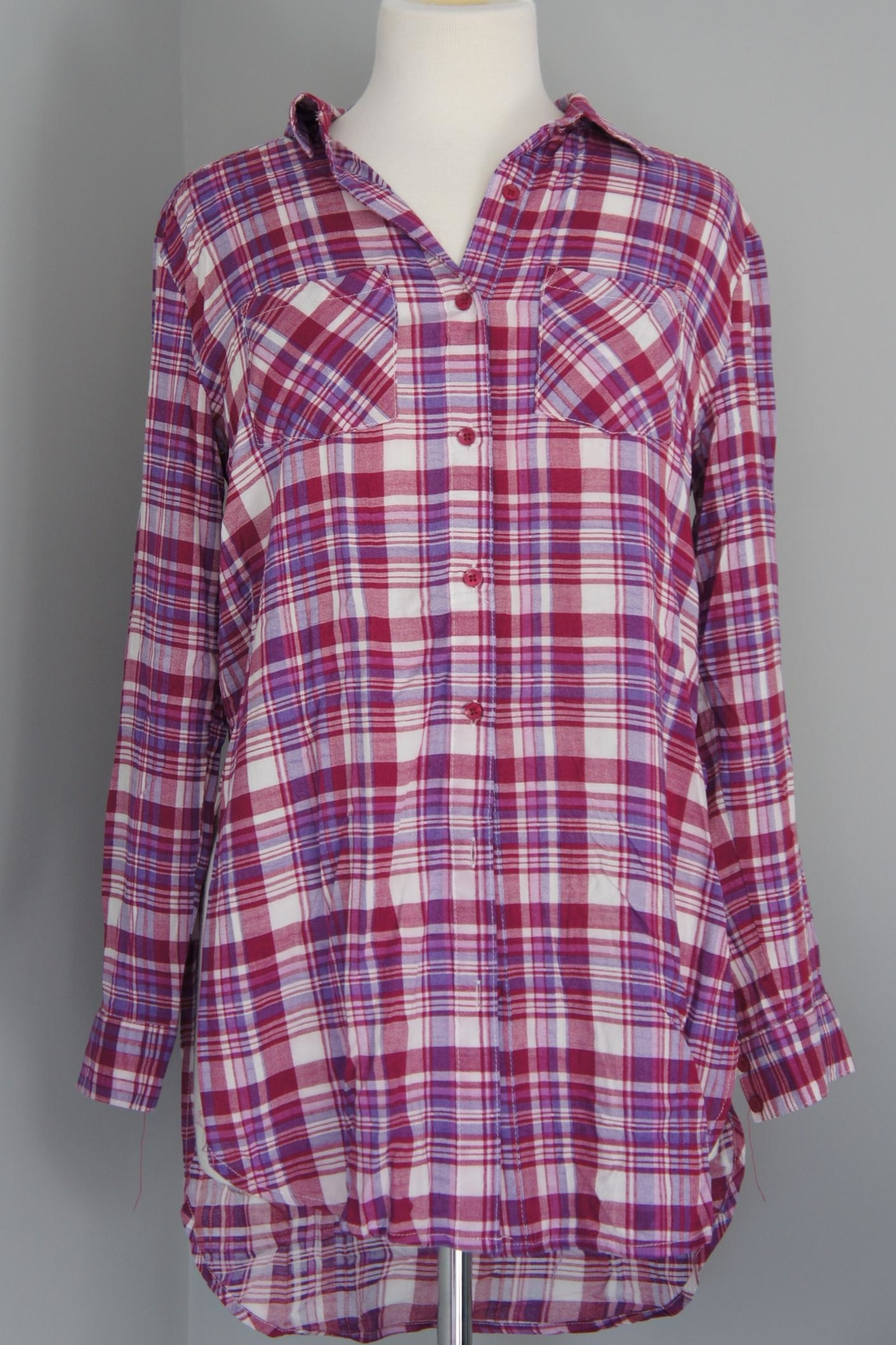 Entro Plaid Long Shirt - Main Image