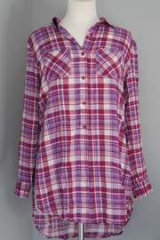 Entro Plaid Long Shirt - Product Mini Image