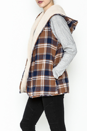 Entro Plaid Reversible Vest - Product Mini Image
