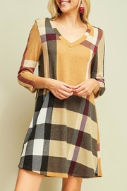 Entro Plaid Sweater Dress - Product Mini Image