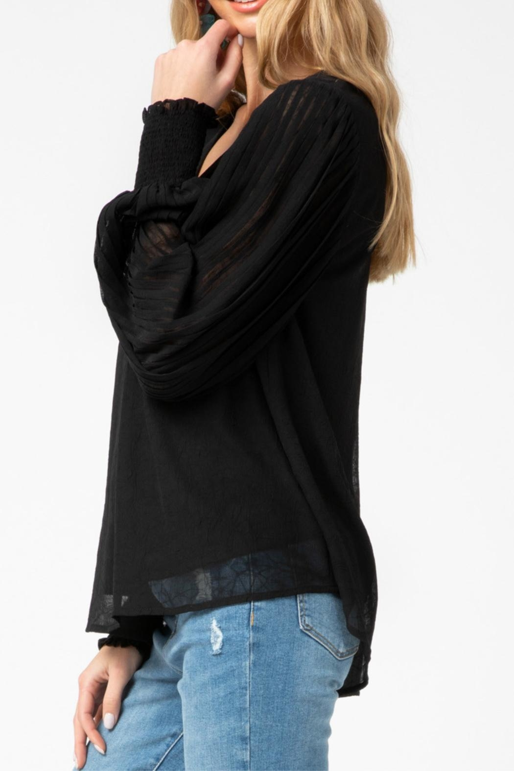Entro Pleated Sleeve Top - Front Full Image