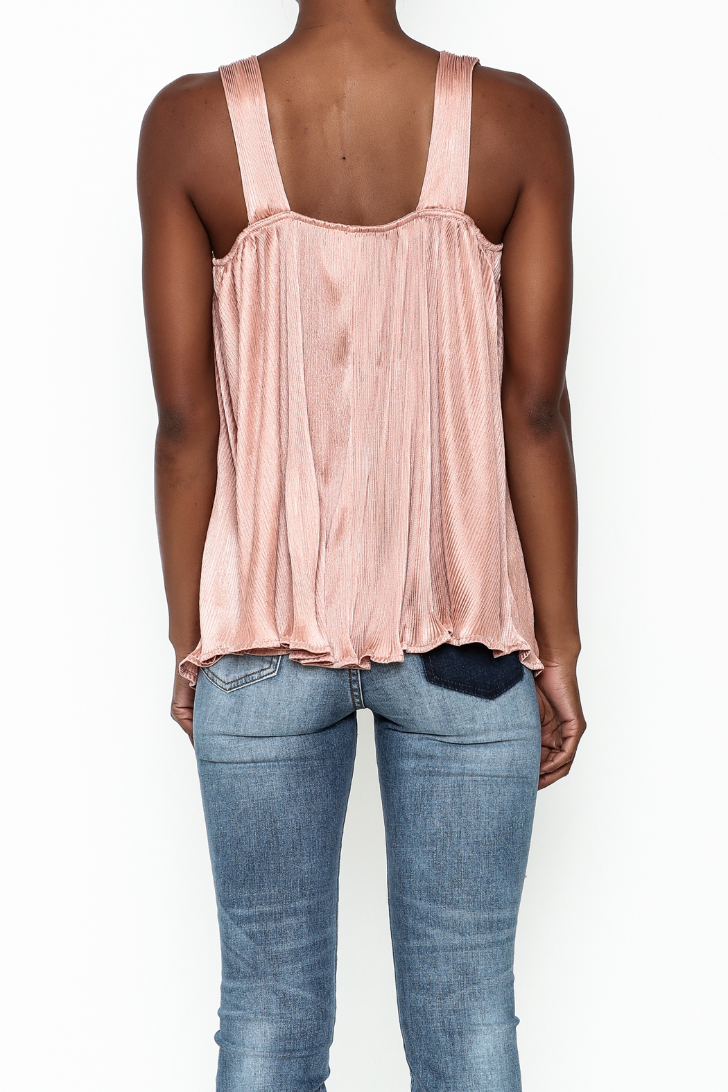 Entro Pleated Swing Top - Back Cropped Image
