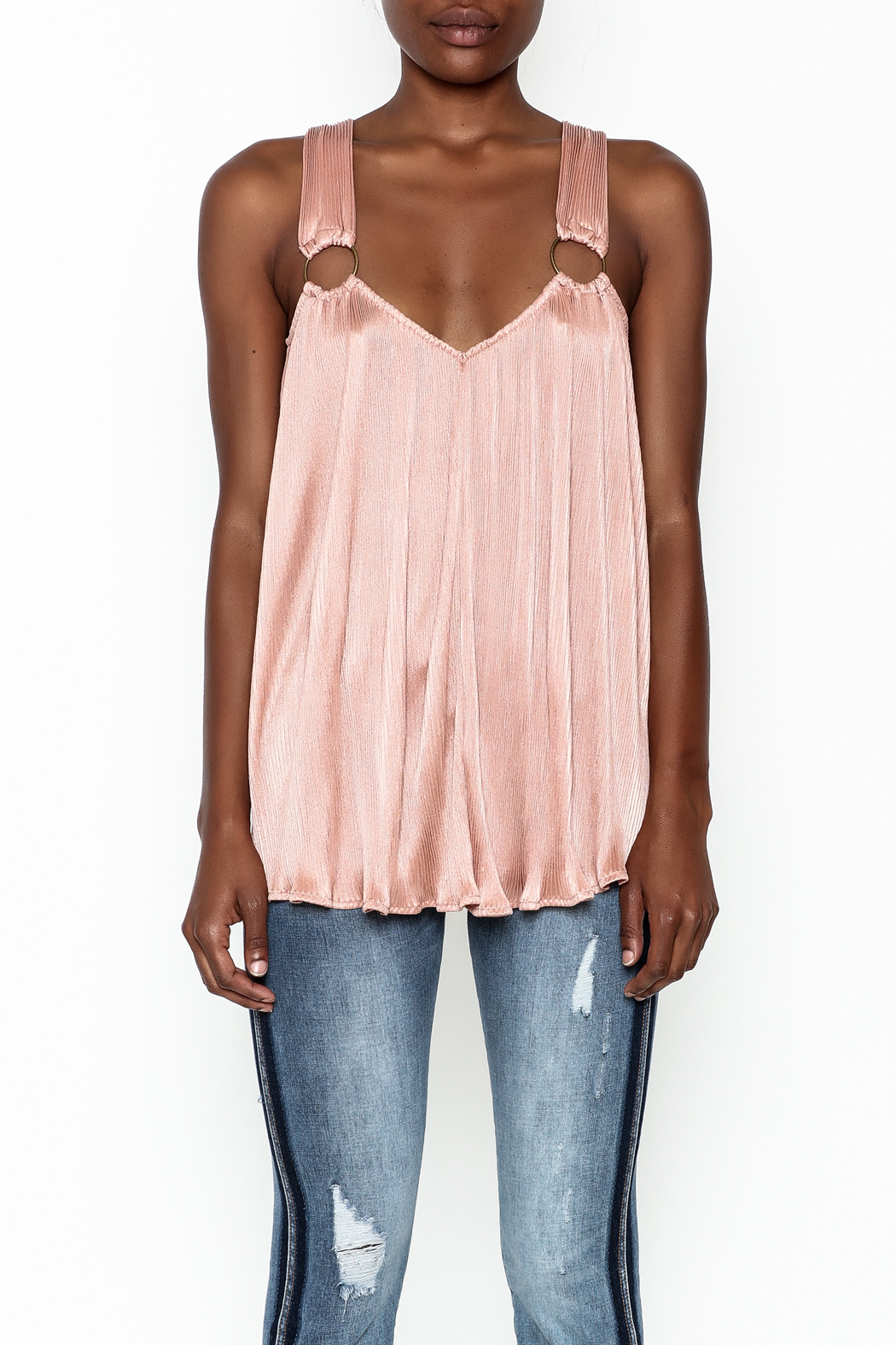 Entro Pleated Swing Top - Front Full Image