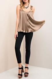Entro Pleated V Neck Top - Product Mini Image