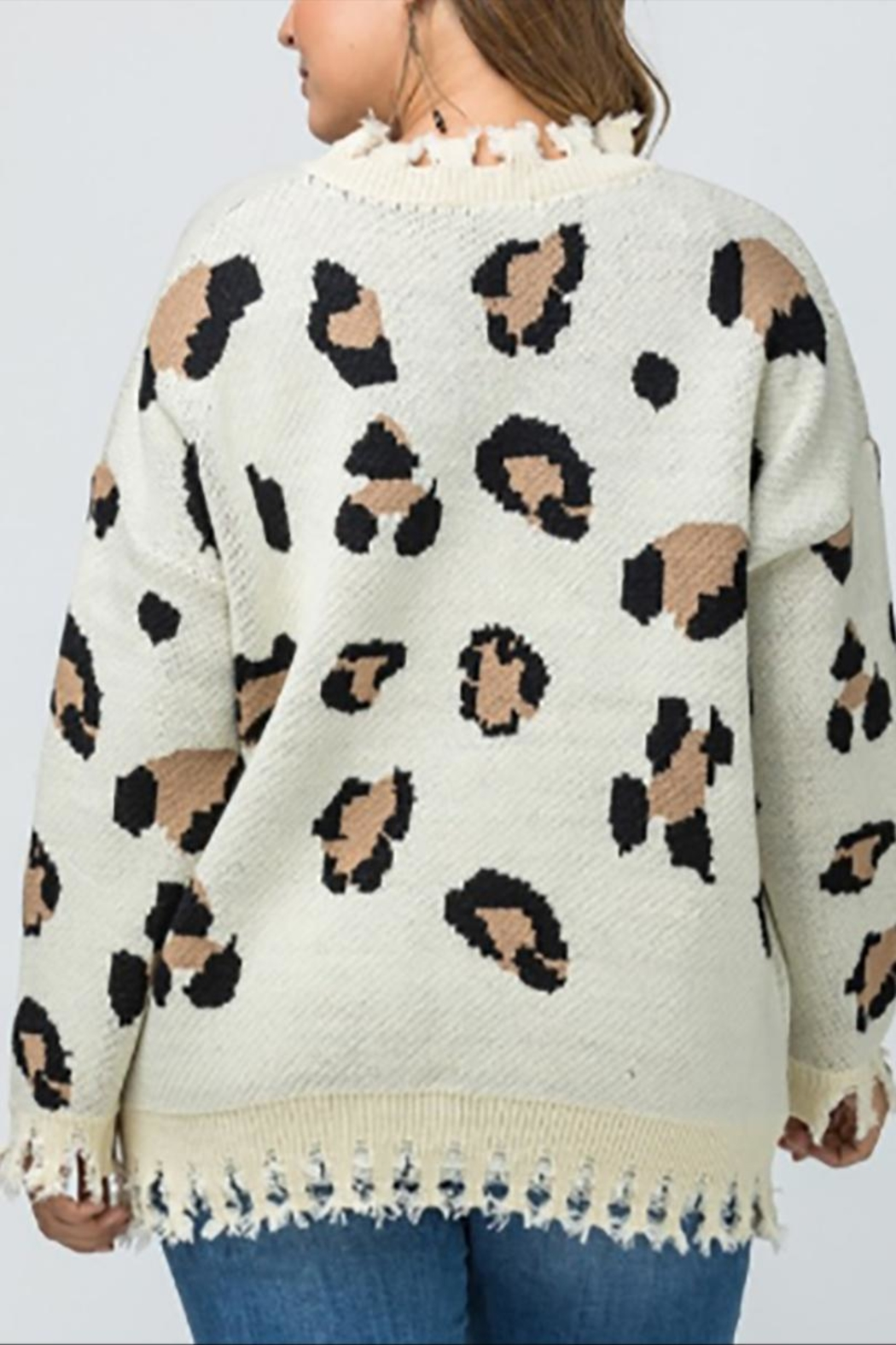 Entro Plus Leopard Sweater - Side Cropped Image