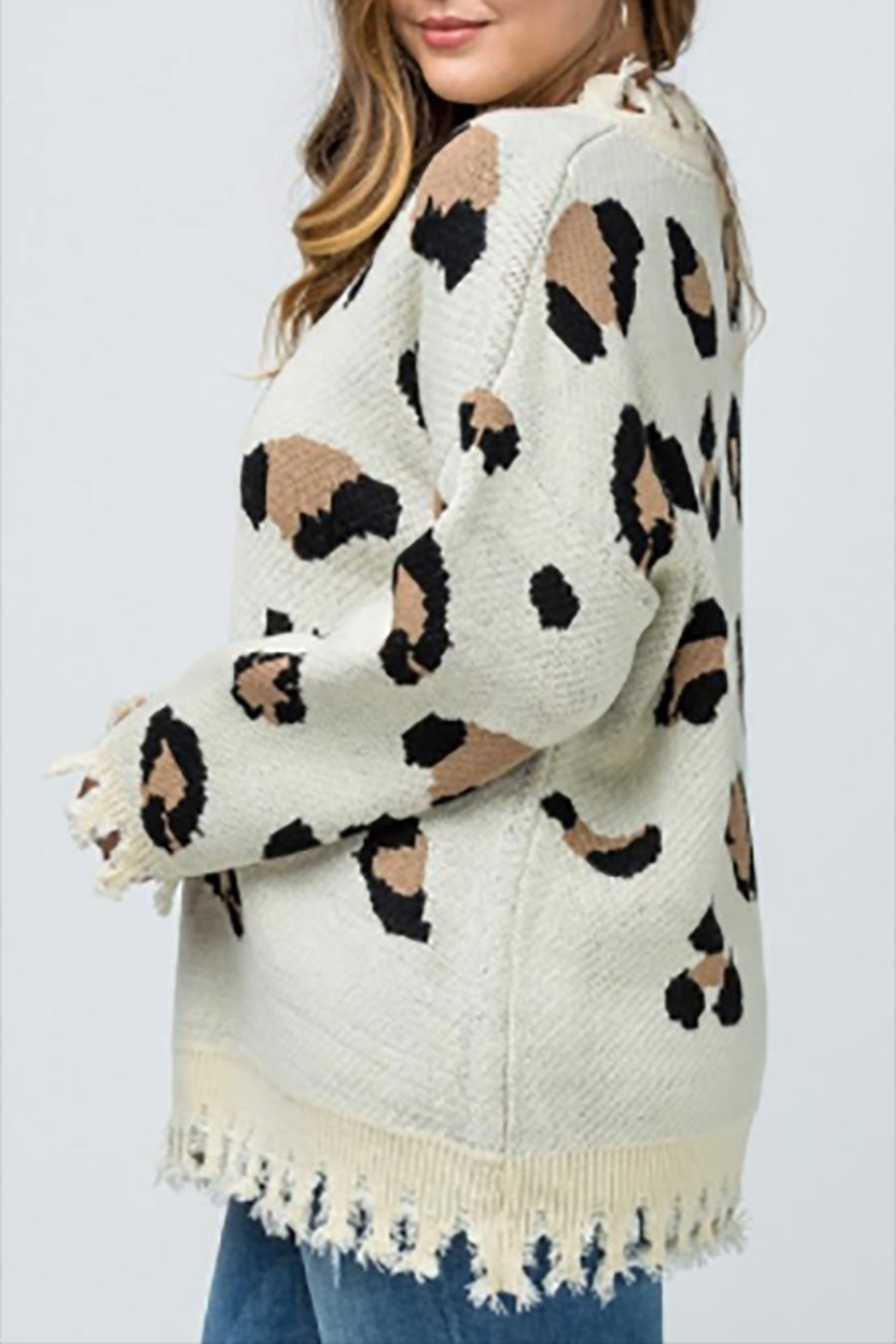 Entro Plus Leopard Sweater - Front Full Image