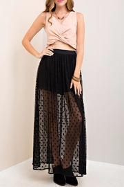 Entro Polka Dot Maxi Skirt - Product Mini Image