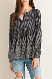 Entro Printed Button Down Blouse - Product Mini Image