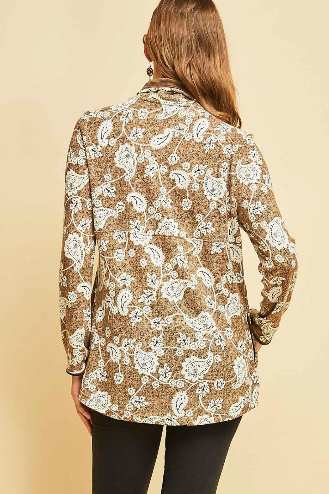 Entro Print Pullover Top - Side Cropped Image