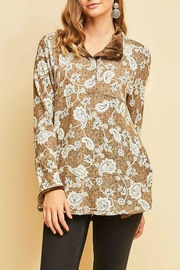 Entro Print Pullover Top - Product Mini Image