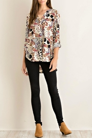 Entro Printed Button-Down Blouse - Product Mini Image