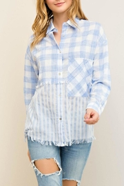 Entro Printed Button-Down Shirt - Product Mini Image