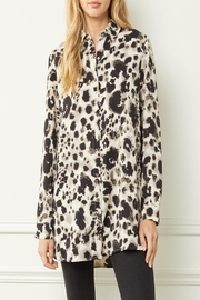 Entro Printed Button-Down Top - Front cropped