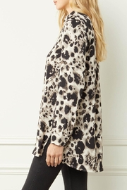Entro Printed Button-Down Top - Back cropped