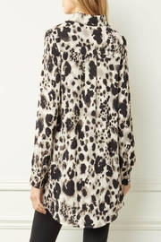 Entro Printed Button-Down Top - Front full body