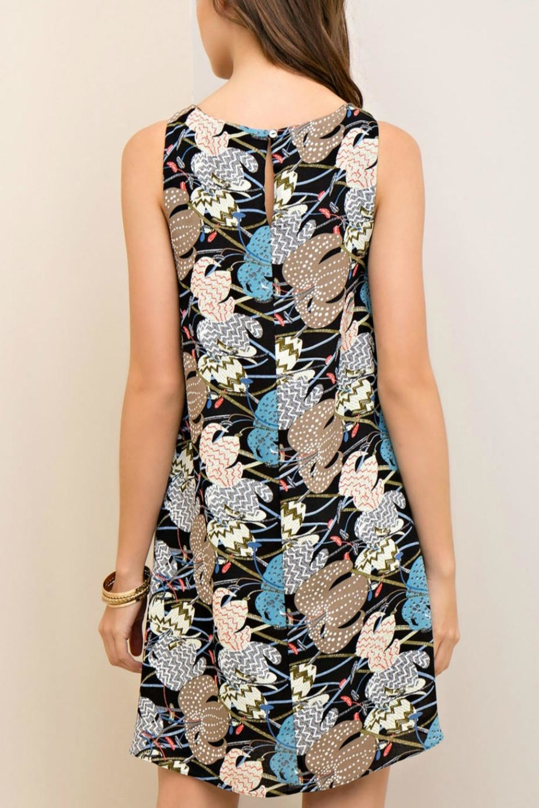 Entro Printed Dress - Front Full Image