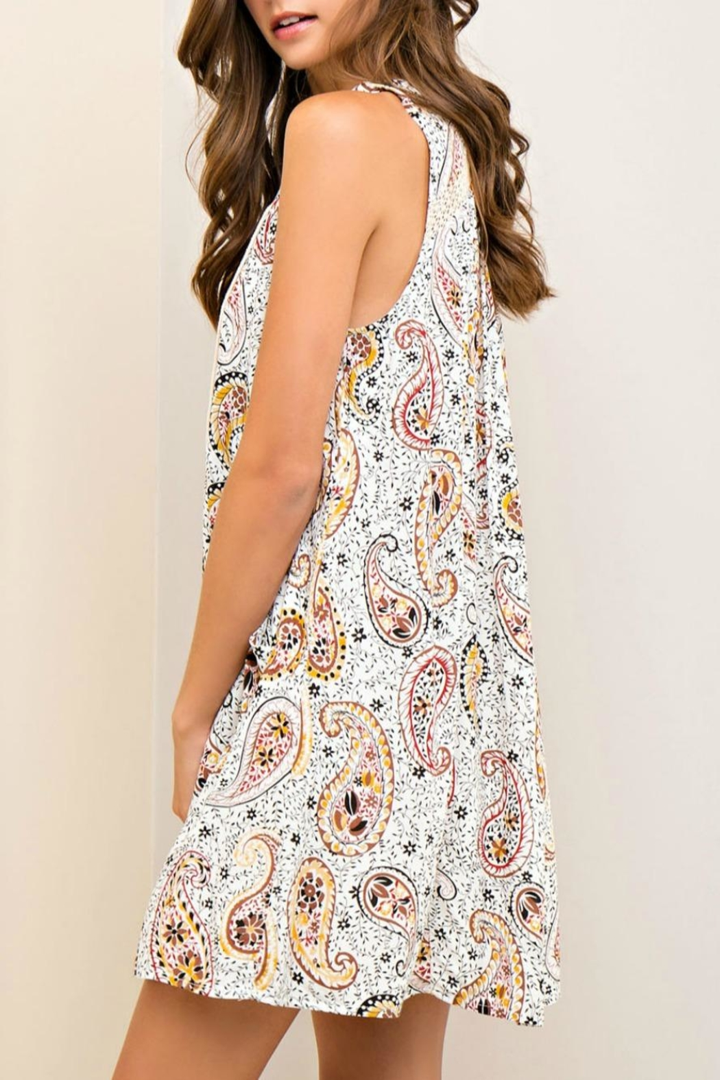 Entro Printed Dress - Side Cropped Image