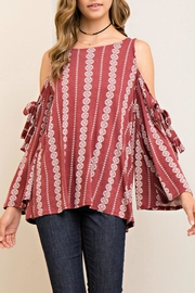 Entro Printed Open-Shoulder Top - Product Mini Image
