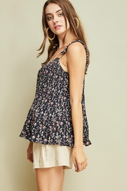 Entro Printed Pleated Top - Front full body