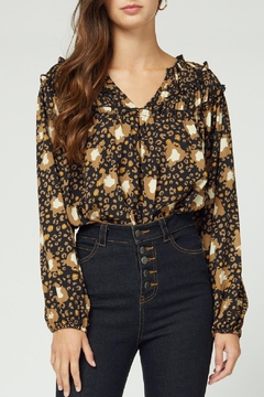 Entro Printed Ruffle Top - Product List Image