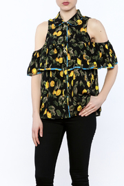 Entro Black Button-Down Blouse - Product Mini Image