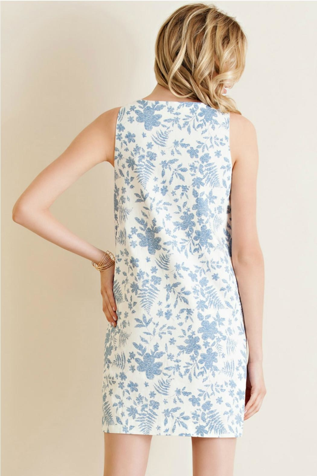 Entro Printed Shift Dress - Front Full Image